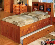 Ridgeline Twin Size  Bookcase Captains Trundle  Bed
