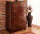Atlantic 5 Drawer Chest Antique Walnut | Atlantic Furniture | ATL-C-68404