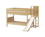 Maxtrix ABRA Low Bunk Bed with Slide Platform Twin Size Natural