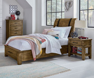 Nelson Storage Sleigh Bed Twin Size Toffee