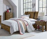 Nelson Storage Sleigh Bed Full Size Toffee