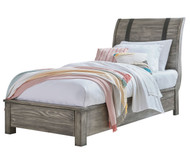 Nelson Sleigh Bed Twin Size Grey