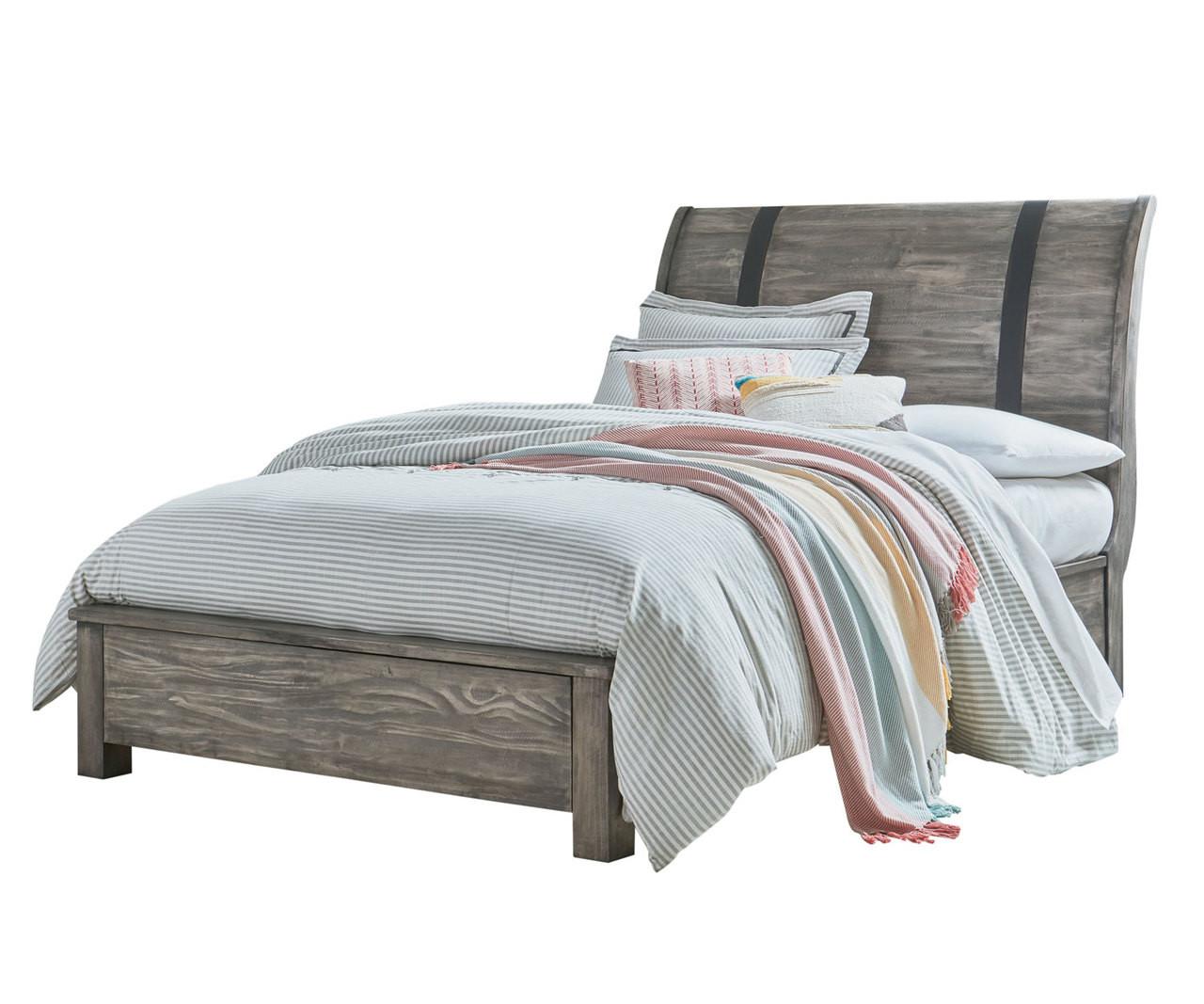 Nelson Sleigh Bed Full Size Grey Finish 90350 Standard Furniture Kids Bedroom Set