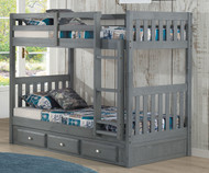 Westport Gray Mission Bunk Bed