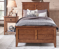 Grandpa's Cabin Panel Bed Twin Size