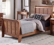 Grandpa's Cabin Sleigh Bed Twin Size