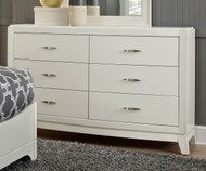 Avalon 6 Drawer Dresser White Truffle