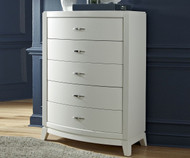 Avalon 5 Drawer Chest White Truffle