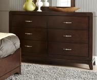 Avalon 6 Drawer Dresser Dark Truffle