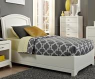 Avalon Platform Bed Twin Size White Truffle