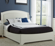 Avalon Leather Platform Bed Full Size White Truffle