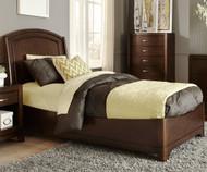 Avalon Platform Bed Twin Size Dark Truffle