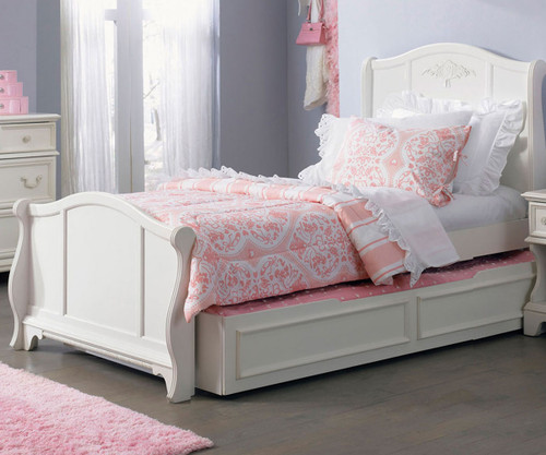 sports shoes 0368e 9a37d Arielle Sleigh Bed with Trundle Twin Size