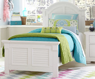 Summer House Panel Bed Twin Size White