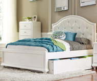 Stardust Panel Bed with Trundle Twin Size