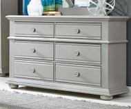 Summer House 6 Drawer Dresser Gray