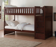 Stanford Stair Bunk Bed Cherry