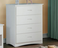 Stanford Four Drawer Chest White