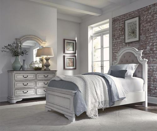 Magnolia Manor Full Size Upholstered Panel Bed 244-YBR-FUB