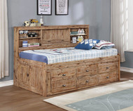 Remington Twin Size Bookcase Captain's Day Bed