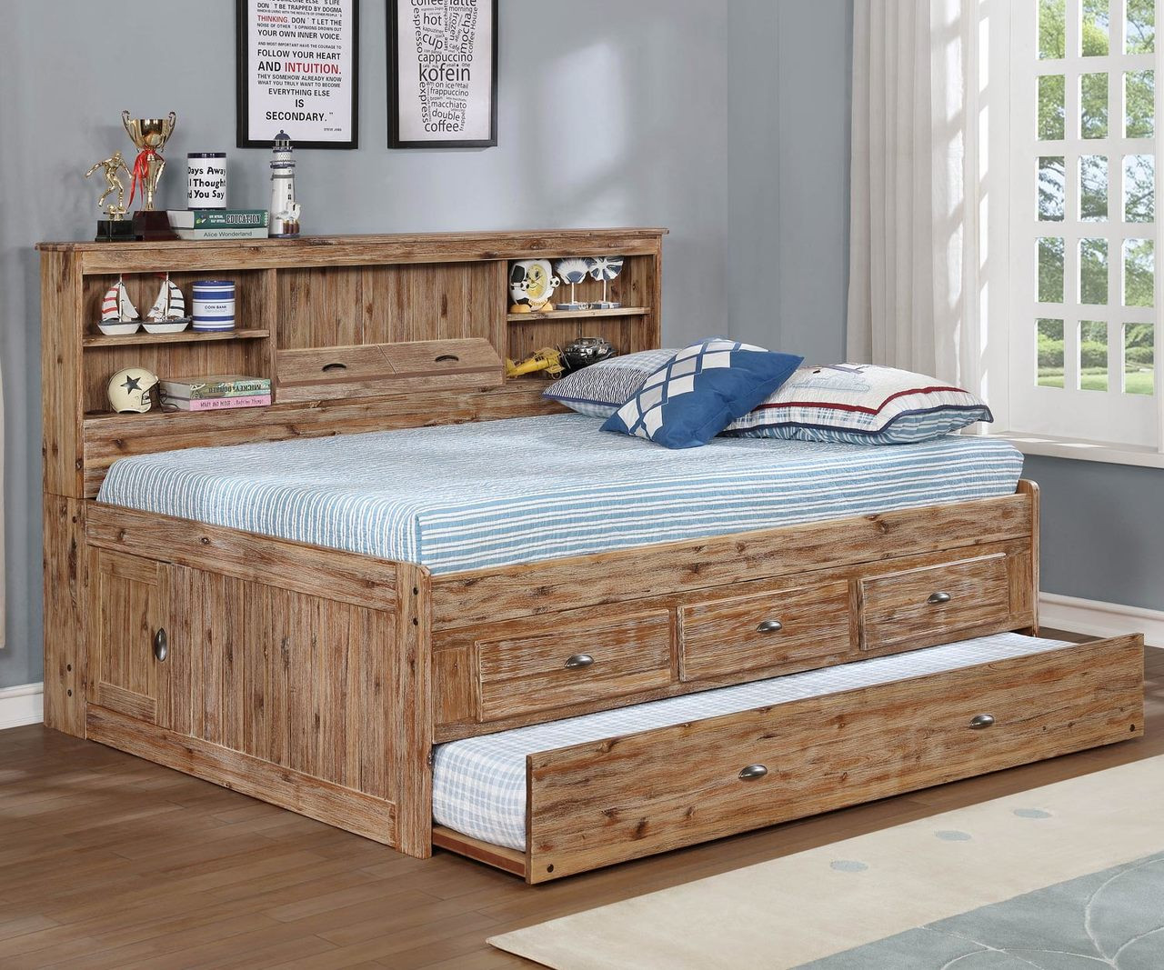 Remington Full Size Bookcase Captain S Day Bed