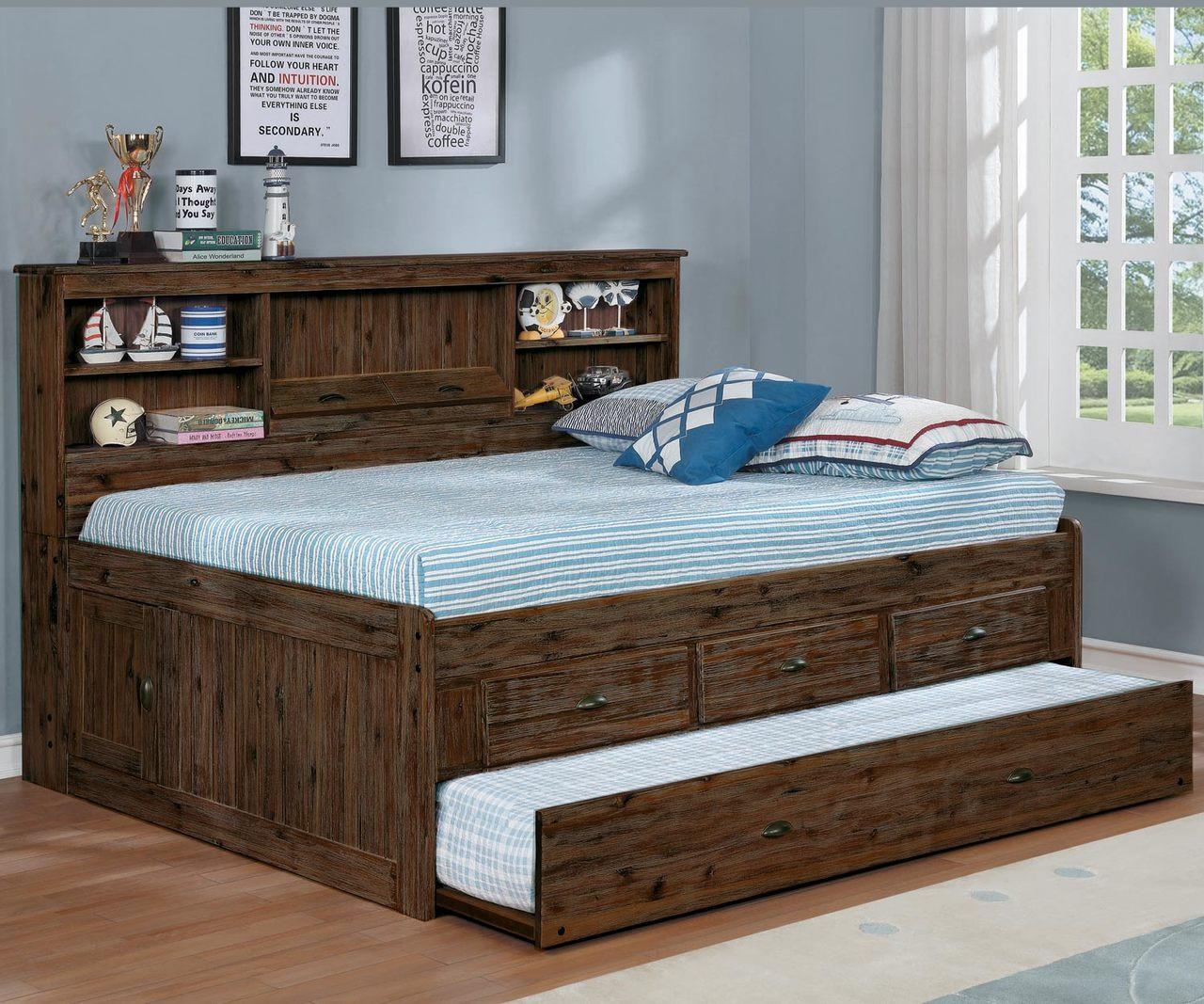 Preston Full Size Bookcase Captain S Day Bed