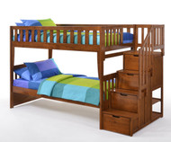 Crestwood Bunk Bed with Stairs Cherry