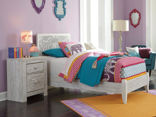 paxberry twin size panel bed b181 | ashley kids furniture