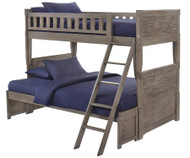 Shoreline Twin over Full Bunk Bed Grey