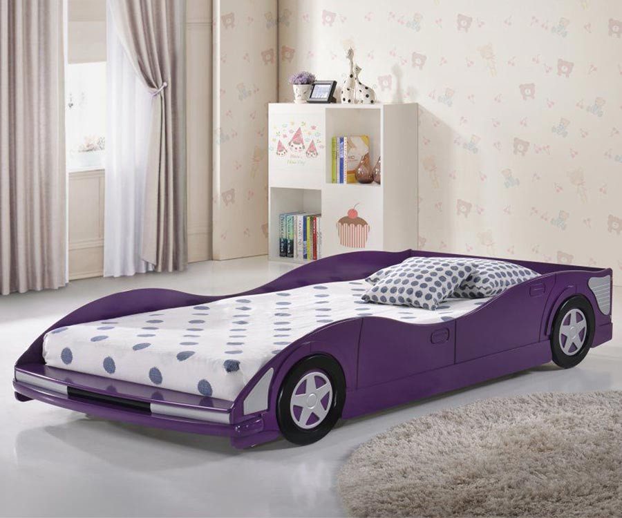 Race car bedroom furniture Red Race Car Bed Twin Size Purple Image Kids Furniture Warehouse Donco Trading Purple Twin Size Race Car Bed 4004tp Kids Novelty