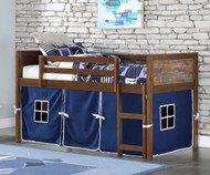 Artesian Low Loft Bed with Blue Tent