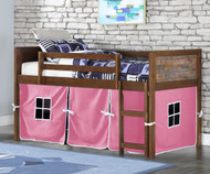 Artesian Low Loft Bed with Pink Tent