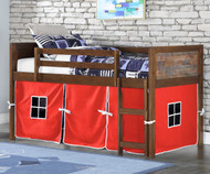 Artesian Low Loft Bed with Red Tent