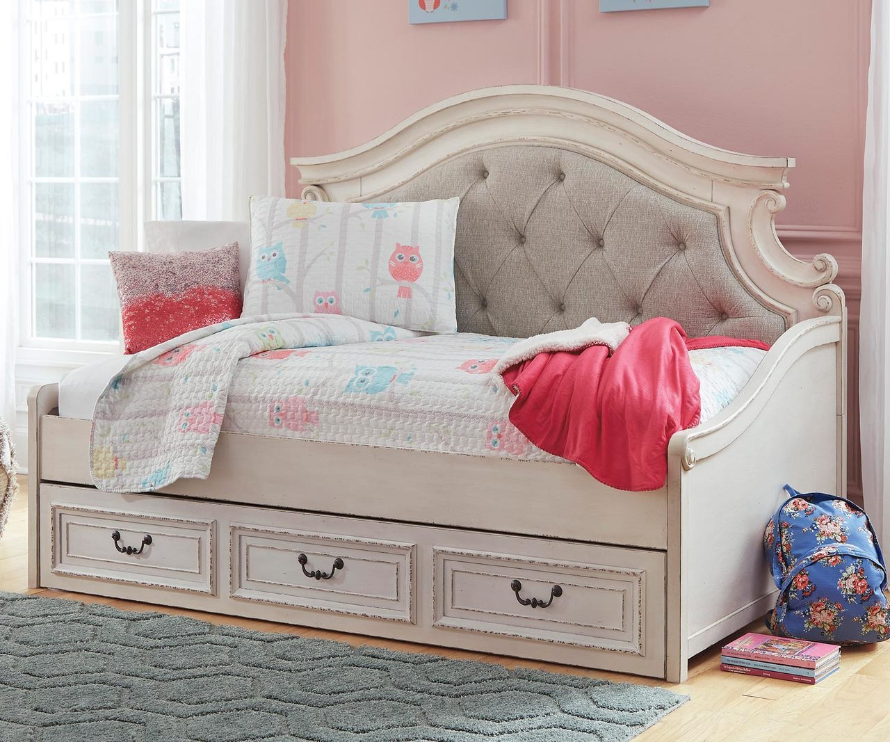 Picture of: Realyn Twin Size Upholstered Day Bed B743 Ashley Kids Furniture Kids Teens Bedroom Furniture