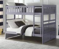 Stanford Full over Bunk Bed Gray Solid Wood Beds | Space-saving Full-Size