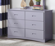 Stanford Six Drawer Dresser Gray