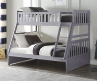 Stanford Twin over Full Bunk Bed Gray