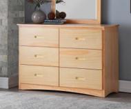 Stanford Six Drawer Dresser Natural