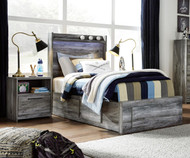 Baystorm Bookcase Storage Bed Twin Size