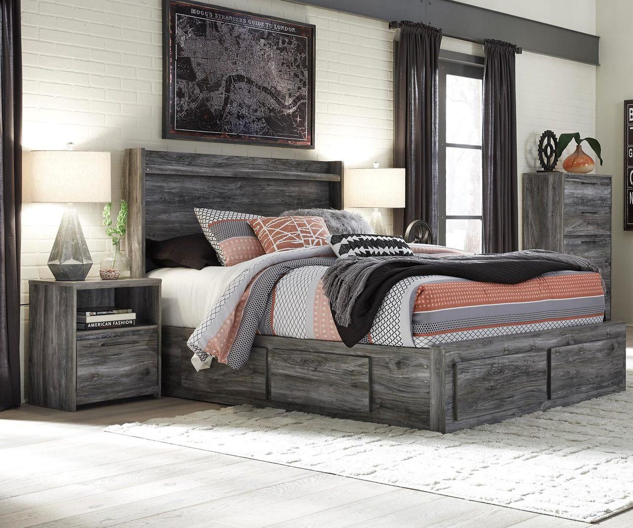Image of: Baystorm Full Size Storage Bed B221 Ashley Kids Furniture Kids Teens Bedroom Furniture