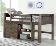 Barnum Low Loft Bed with Chest and Bookcase