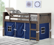 Barnum Low Loft Bed with Blue Tent