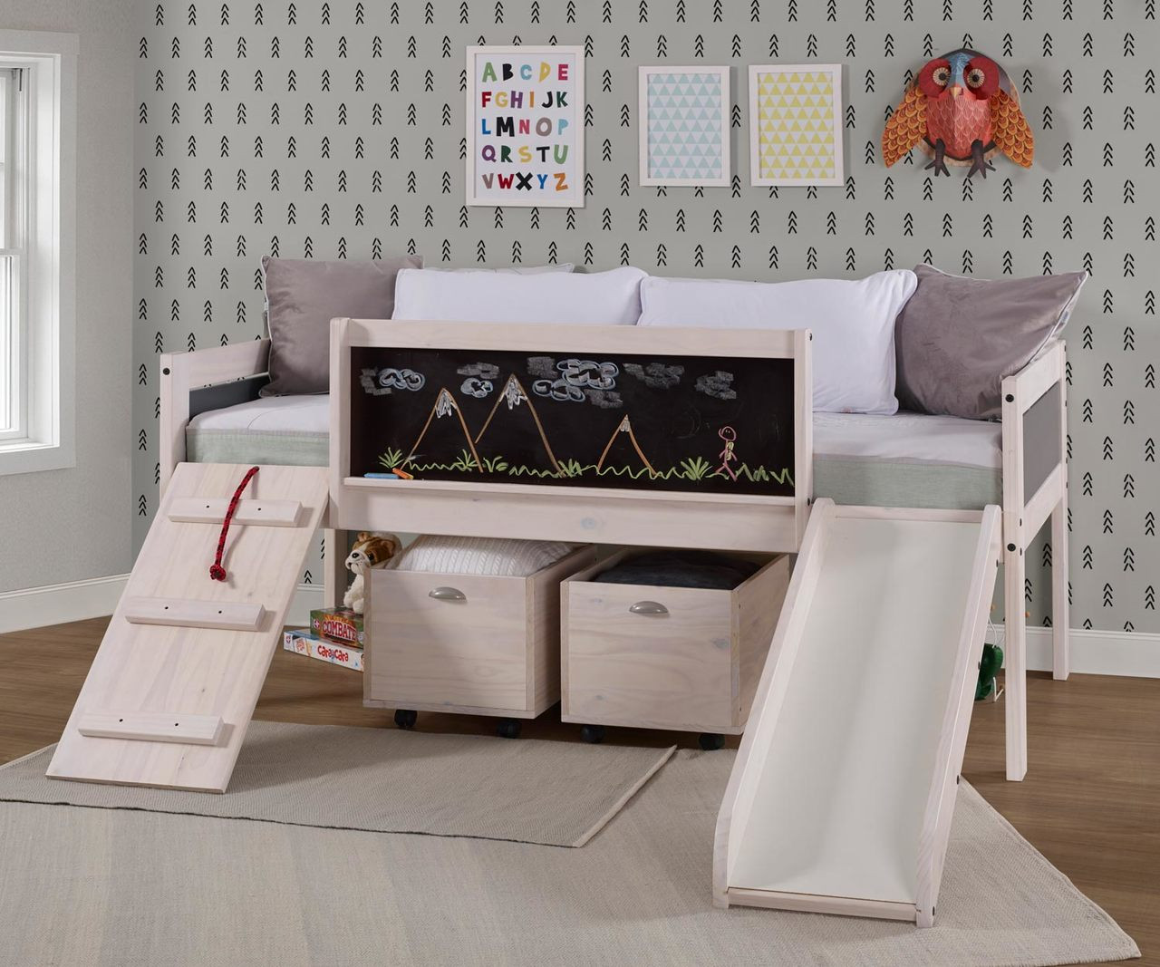 Picture of: Art Play Junior Low Loft Bed 3005 Tlwwdg Donco Trading Kids Low Loft Bed Bedroom Furniture