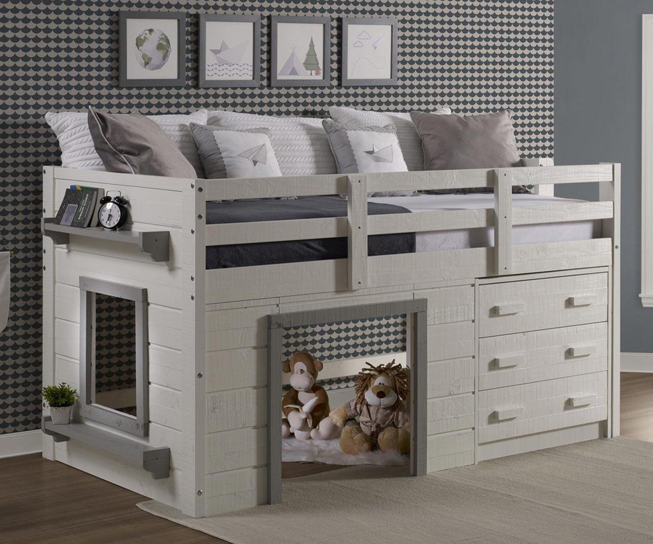 Sweet Dreams Low Loft Bed 1830 Tlwg Donco Trading Kids Low
