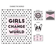 Girls Change the World Hugger Comforter Complete Collection Bedding Set