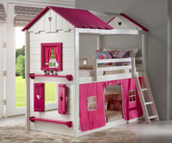 Sweetheart Bunk Bed with Pink Tent