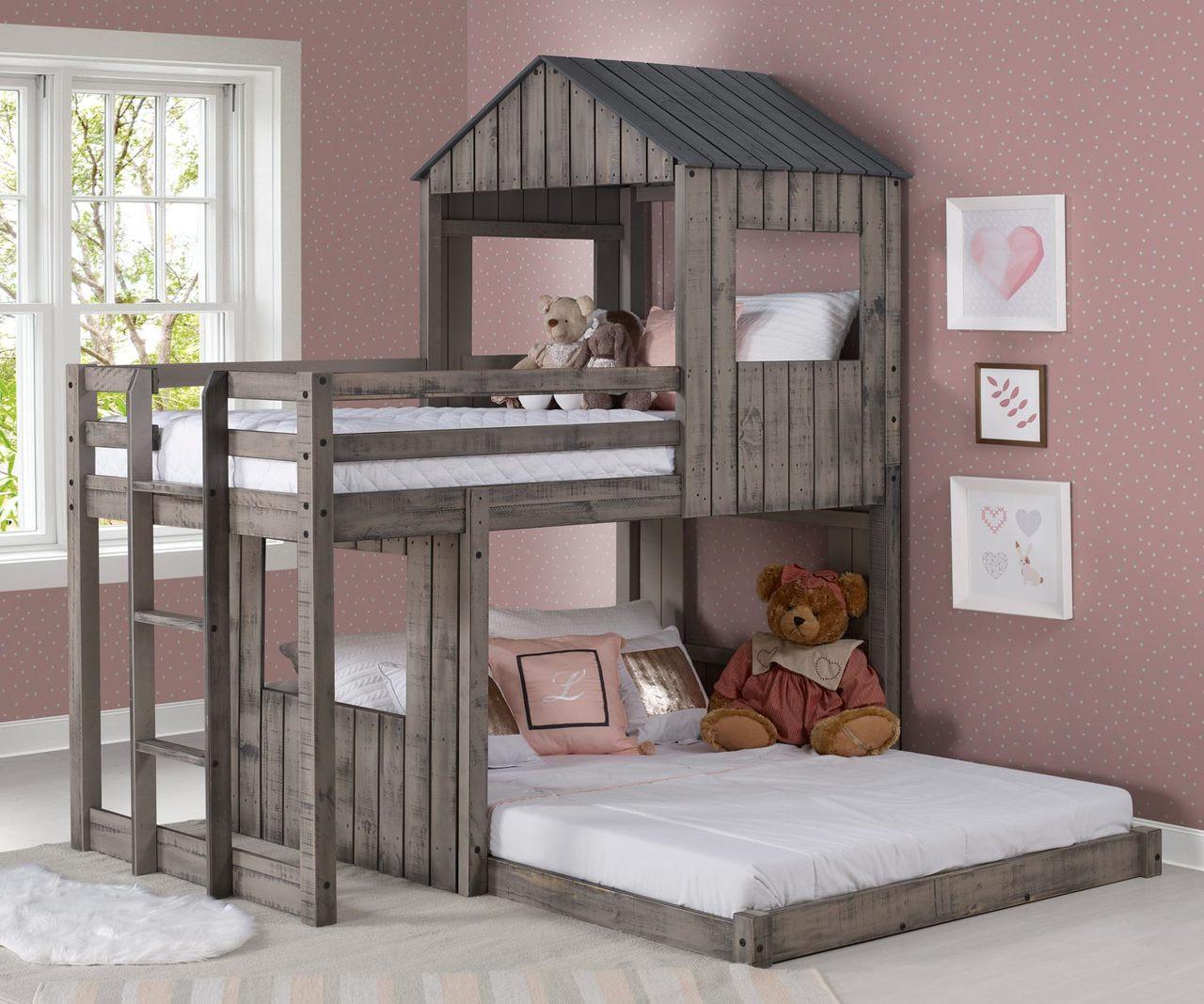 newest collection 94eb5 fa45e Campsite Twin over Full Loft Bunk Bed
