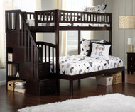 Westbrook Stair Bunk Bed Twin over Full Espresso