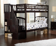 Westbrook Stair Bunk Bed Twin over Twin Espresso