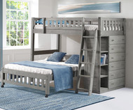 Westport Gray Twin over Full Loft Bed